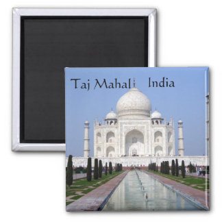 Taj Mahal, Agra, India Square Magnet
