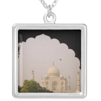 Taj Mahal, Agra, Uttar Pradesh, India 2 Silver Plated Necklace