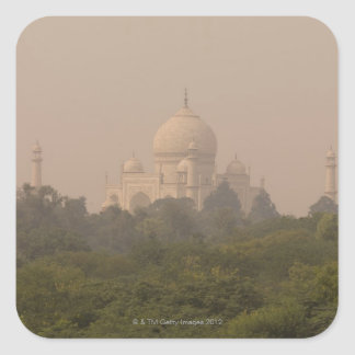 Taj Mahal, Agra, Uttar Pradesh, India 4 Square Sticker