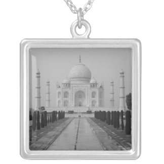 Taj Mahal, Agra, Uttar Pradesh, India 5 Silver Plated Necklace