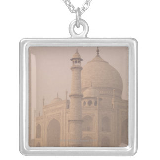 Taj Mahal, Agra, Uttar Pradesh, India 6 Silver Plated Necklace