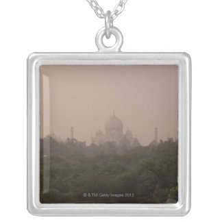 Taj Mahal, Agra, Uttar Pradesh, India Silver Plated Necklace