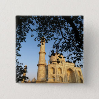 Taj Mahal  at sunrise. Agra, India 2008. 15 Cm Square Badge
