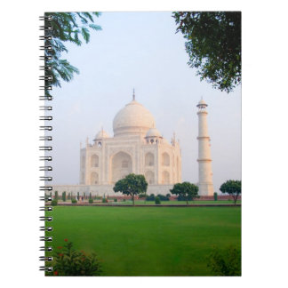 Taj Mahal at sunrise one of the wonders of the Spiral Notebook