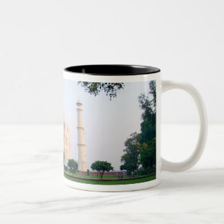 Taj Mahal at sunrise one of the wonders of the Two-Tone Coffee Mug
