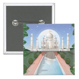 Taj Mahal Pinback Buttons