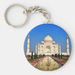 Taj Mahal Basic Round Button Key Ring