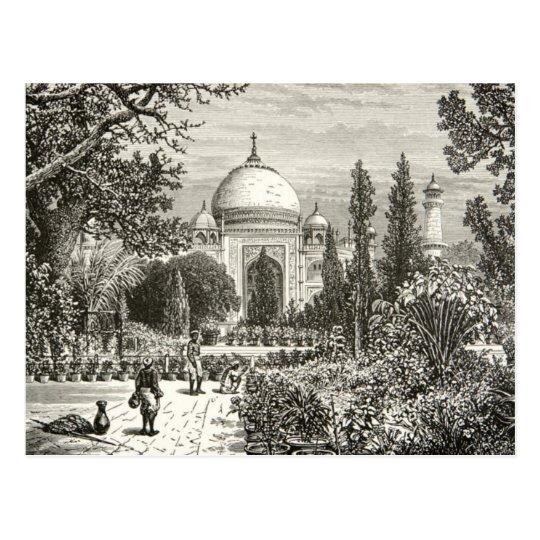 Taj Mahal Garden Agra India Heritage Site Landmark