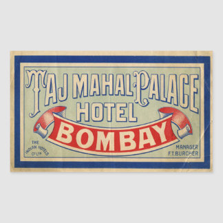 Taj Mahal Hotel Rectangular Sticker