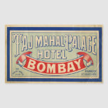 Taj Mahal Hotel Rectangular Stickers