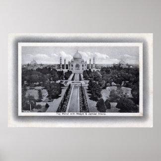 Taj Mahal India 1920s Vintage Posters