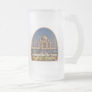 TAJ MAHAL India Frosted Glass Mug