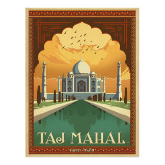 Taj Mahal, India Postcard