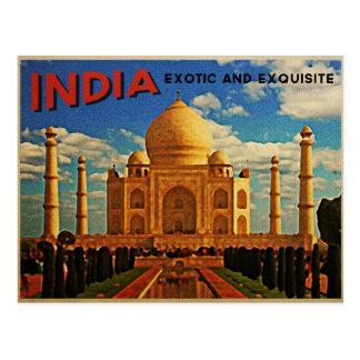 Taj Mahal India Vintage Postcard