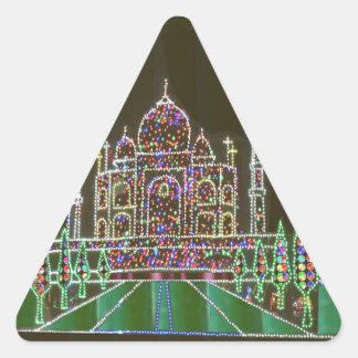 TAJ Mahal Moghul Architecture Heritage Building 99 Triangle Stickers
