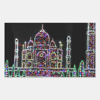 TAJ Mahal Moghul Architecture Heritage Building 99 Rectangle Sticker
