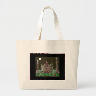 TAJ Mahal Mughal Architecture India Agra Heritage Canvas Bag