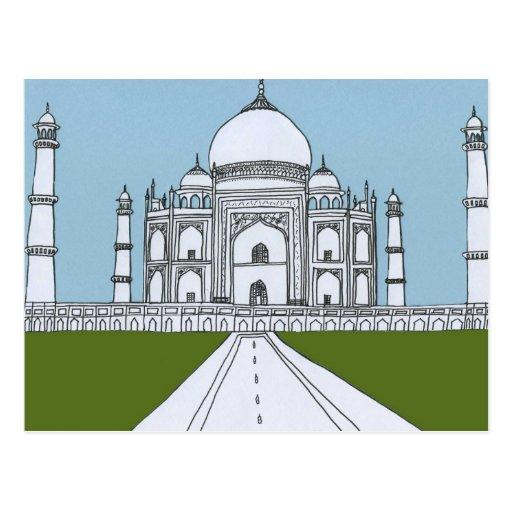 Taj Mahal Post Cards