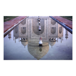 Taj Mahal reflection, Agra, Uttar Pradesh, Photo Print