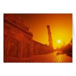 Taj Mahal Sunset Card