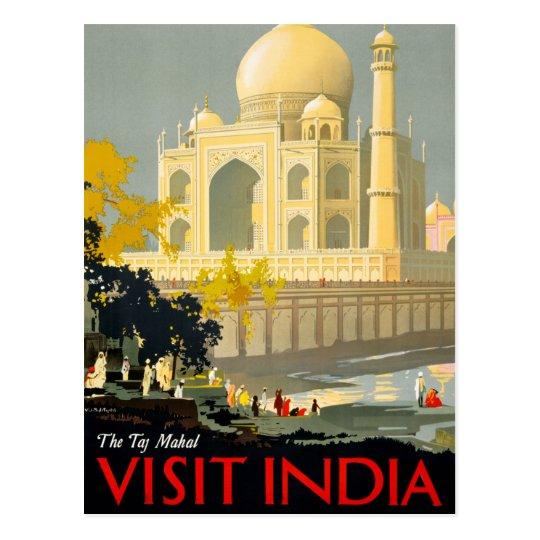 Taj Mahal Visit India Vintage Travel Poster Restor