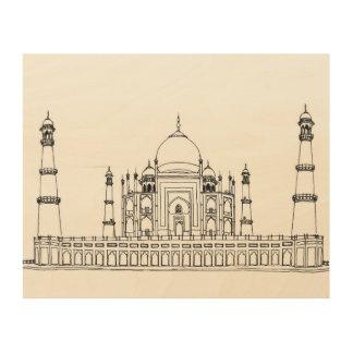 Taj Mahal Wood Wall Decor