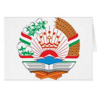 Tajikistan coat of arms greeting card