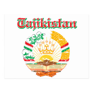 Tajikistan coat of arms designs postcard