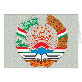 Tajikistan Coat of Arms detail Greeting Cards