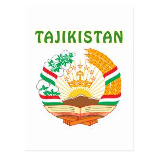 TAJIKISTAN Coat Of Arms Postcard