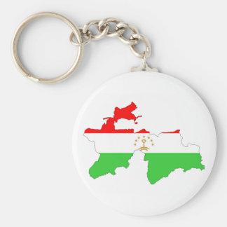 Tajikistan country flag map shape symbol key ring