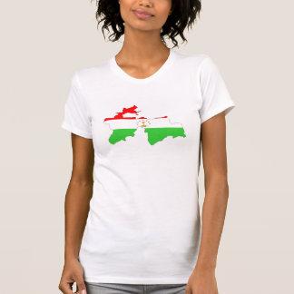 Tajikistan country flag map shape symbol T-Shirt