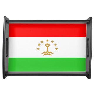 Tajikistan country flag nation symbol serving tray
