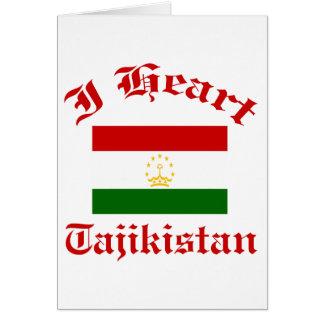 Tajikistan Design Greeting Card
