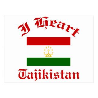 Tajikistan Design Postcard