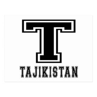 Tajikistan Designs Postcard