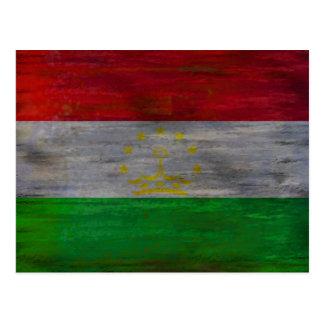 Tajikistan distressed flag post cards