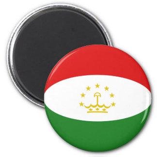 Tajikistan Fisheye Flag Magnet