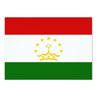 Tajikistan Flag 13 Cm X 18 Cm Invitation Card