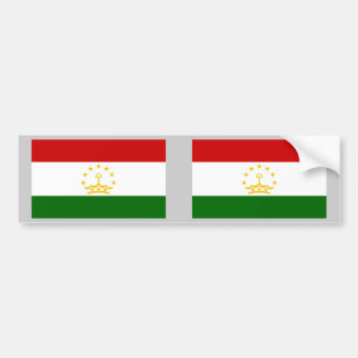Tajikistan Flag Bumper Sticker