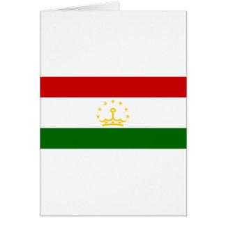 Tajikistan Flag Greeting Card