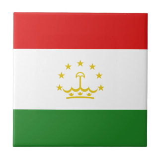 Tajikistan Flag Ceramic Tile