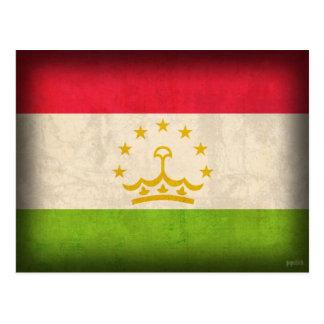 Tajikistan Flag Distressed Postcards