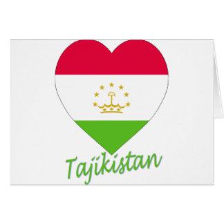 Tajikistan Flag Heart Greeting Card