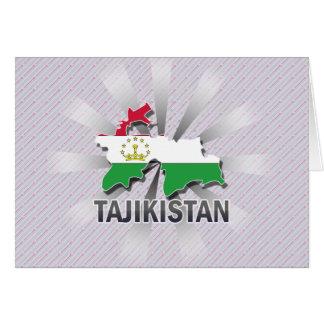 Tajikistan Flag Map 2.0 Greeting Card