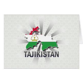 Tajikistan Flag Map 2.0 Card