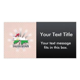 Tajikistan Flag Map 2.0 Photo Card Template