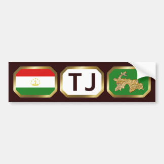 Tajikistan Flag Map Code Bumper Sticker