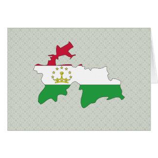Tajikistan Flag Map full size Cards