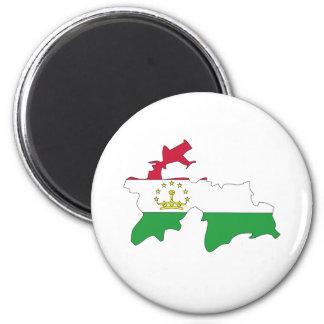 Tajikistan Flag Map full size Magnet